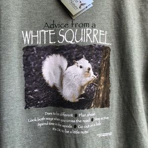 Nature T-shirt, White Squirrel, Men's M, with tags